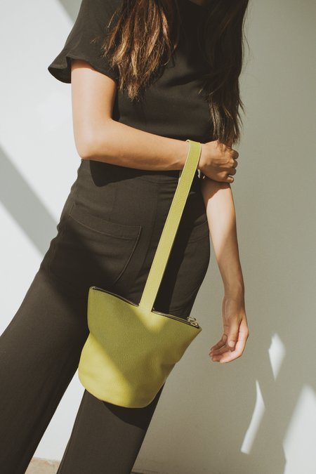 Mixed Business x Larsen & Lund Mini Fisherman Bag - Chartreuse