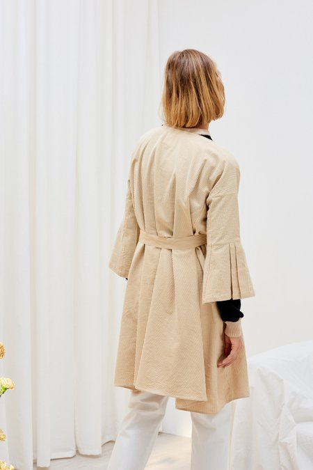 Kowtow Atrium Dress - Mustard Stripe