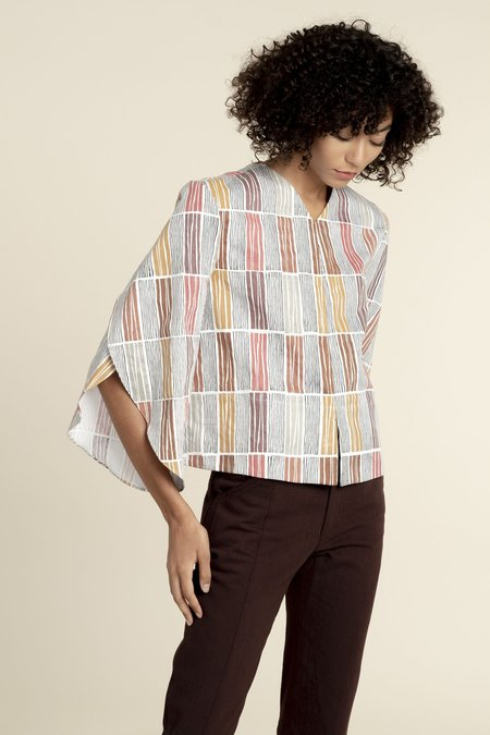 Where Mountains Meet Jess Blouse - Sariska Print