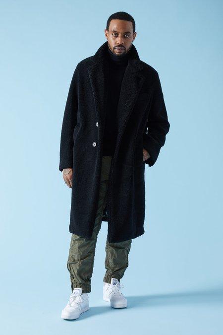 Barena Brentone Riccio Fleece Coat - Nero