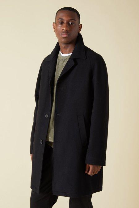 Herno Wool Insulated Raglan Coat - Black