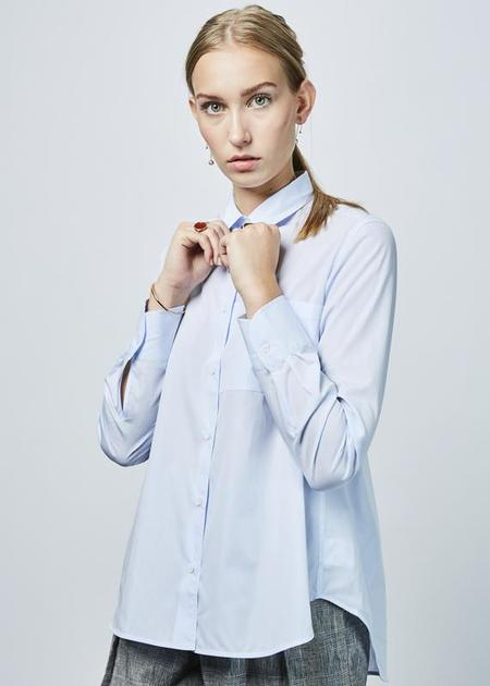 Lareida Lenon A-Line Shirt - Powder Blue