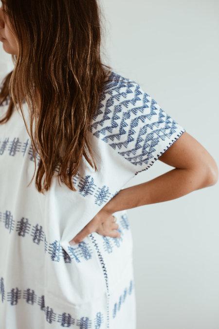 Little Tienda Camila Dress - Blue/White