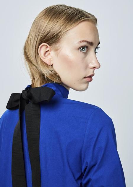 Fabiana Pigna Lippa Back-Tie Dress - Cobalt