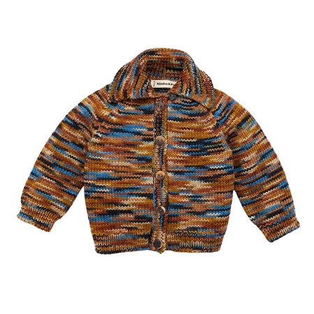 Kids Misha & Puff Motley Cardigan - Space Dye Multi-Color