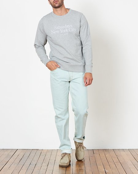 Saturdays NYC Bowery Miller Standard Embroidered Sweatshirt - Ash Heather