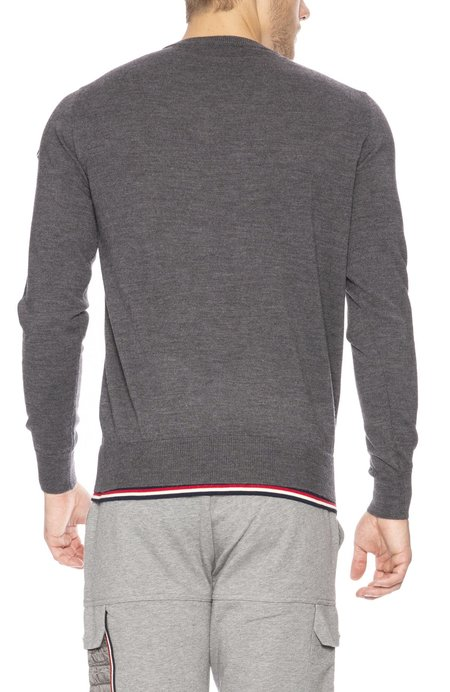 MONCLER Maglione Tipped Wool Sweater
