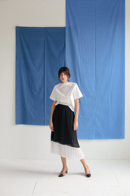 Just Female Moe Cut Skirt - Black/White Stripe