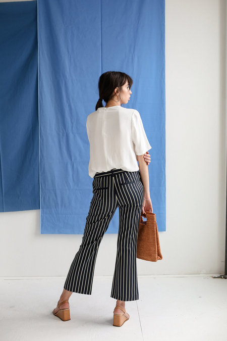 Just Female Laurent Trouser - Blue White Stripe