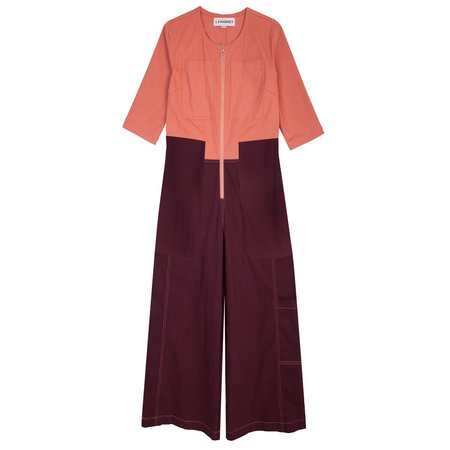 LF Markey Fellini Boilersuit - Pink/Burgundy
