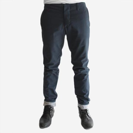 18 Waits The Slim Trouser - Soft Navy Twill