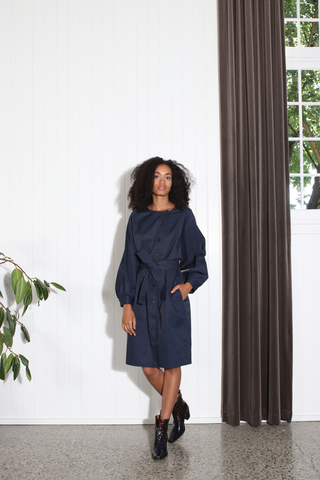 Apiece Apart Cas Trench - Navy