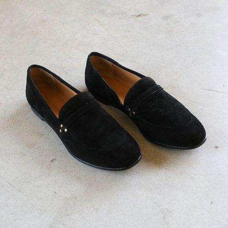 Jerome Dreyfuss Gabi Goatskin Velour Loafers - Noir