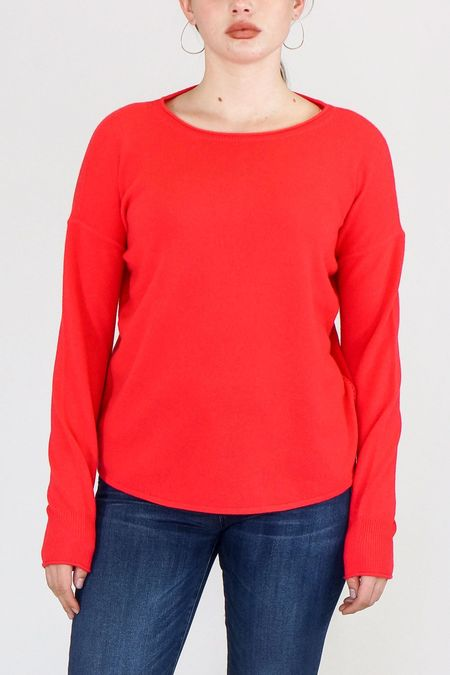 Duffy Boatneck Cashmere Sweater - Geranium