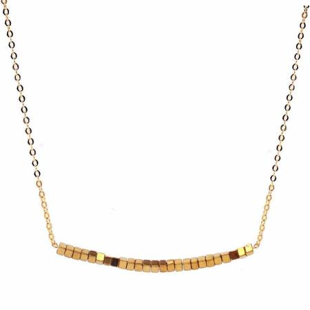 Meus Hematite Curved Necklace