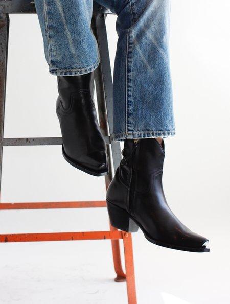R13 Cowboy Ankle Boot - Black