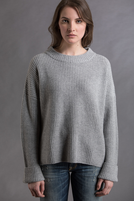 Paychi Guh Cashmere Relaxed Pullover - Flannel/Currant