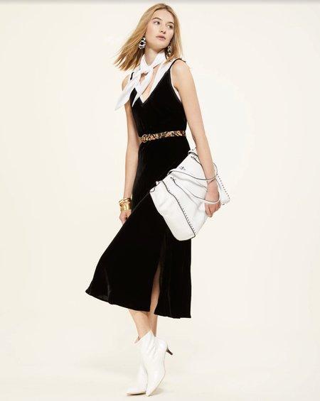 FRAME Denim Velvet Slip Dress - Noir