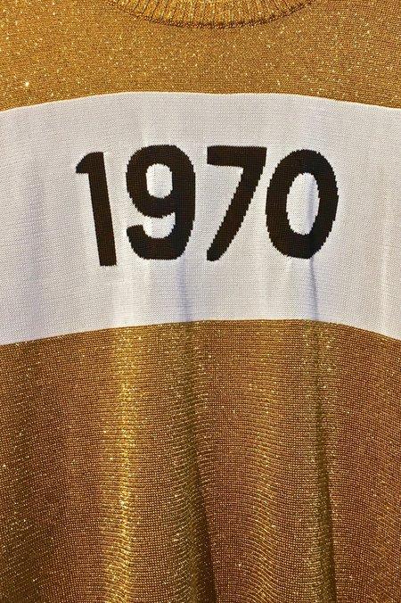 Bella Freud 1970 Sparkle Lurex Sweater - Gold
