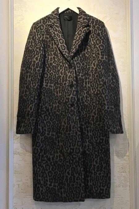 RtA Jamson Leopard Coat - Grey Leopard Print