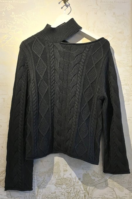 RtA Langley Turtleneck Open Cable Knit Sweater