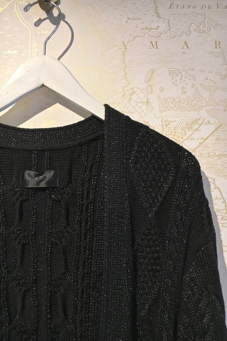 RtA Serge Metallic Cable Knit Cardigan