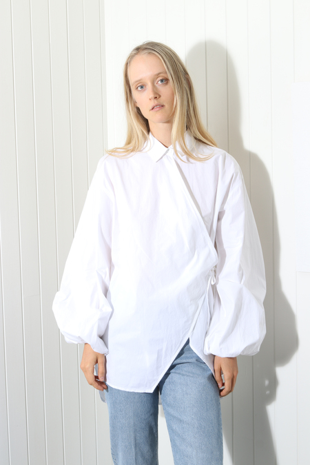 Ganni Olayan Blouse - Bright White