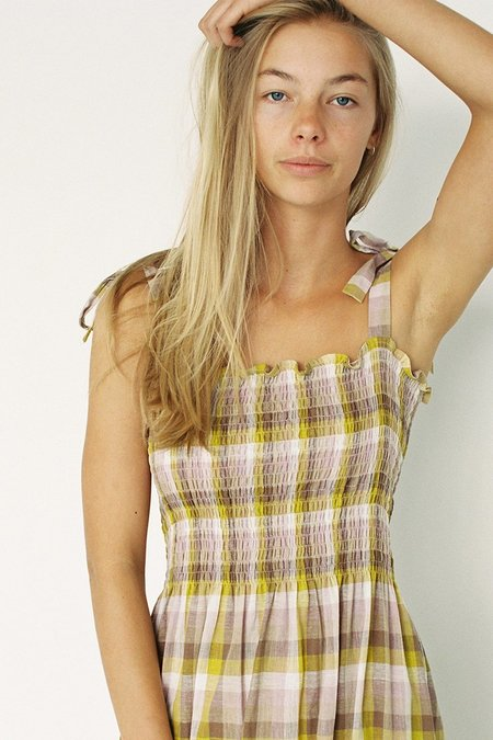 Lonely Holly Dress - Multi Check