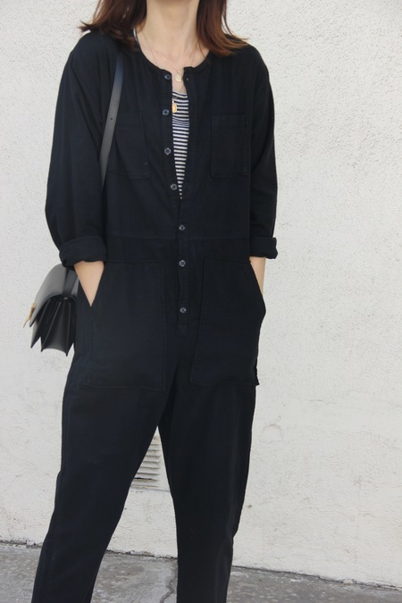 NICO NICO FLANNEL JUMPSUIT - BLACK