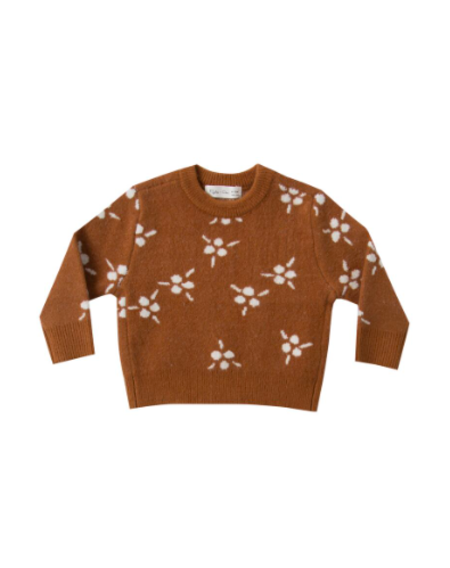 Kids Rylee & Cru Berry Jacquard Knit Pullover