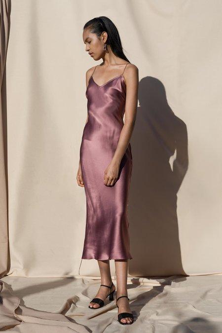 Pari Desai Sandoval Silk Slip Dress - Mauve