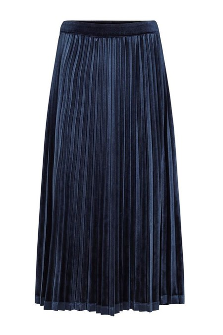 Just Female Clara Velvet Skirt - DARK SAPPHIRE