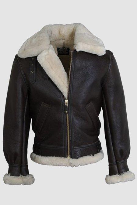 Schott Classic B-3 Jacket - Brown Sheepskin
