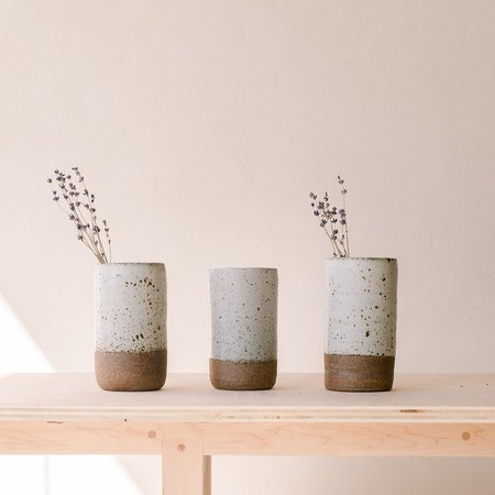 Lucy Michel ceramics Peace Piece Vase - Matte White Glaze