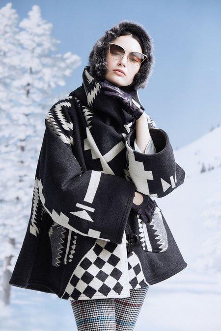 Lindsey Thornburg + Pendleton Los Ojos Trench Cloak - Black