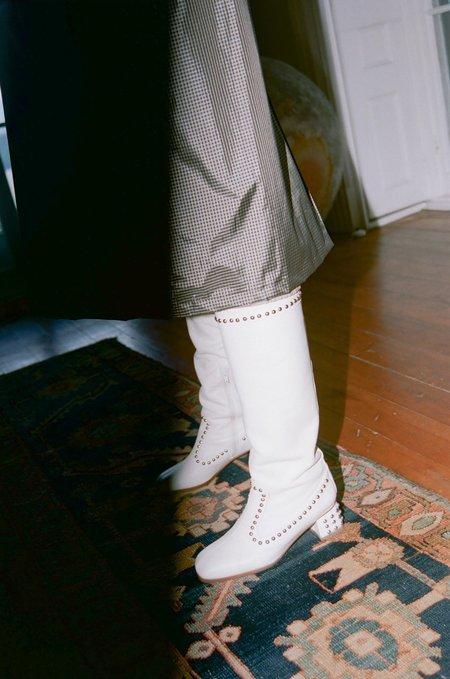 Maryam Nassir Zadeh Kiki Boots - Cream Calf