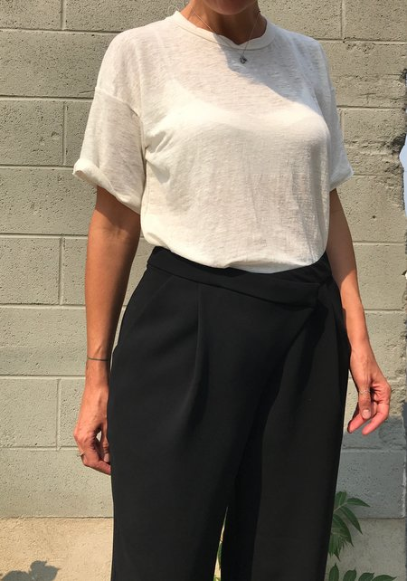 Valérie Dumaine Kamil Asymmetrical Pant - Black