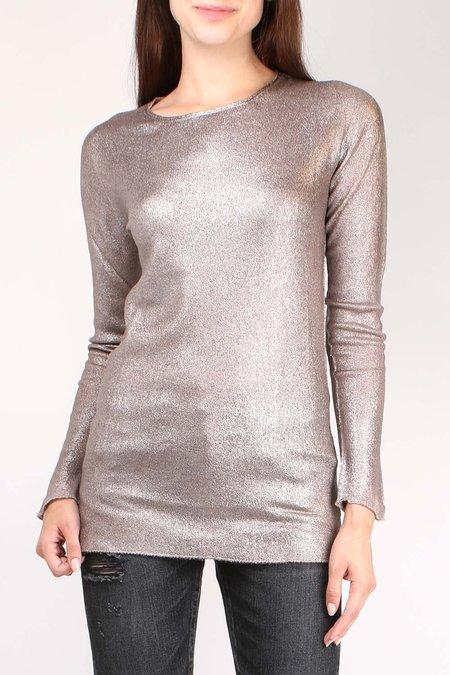 Avant Toi Thin Metallic Pullover - NUDE PINK