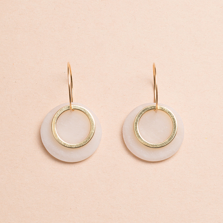 HIGHLOW JEWELRY Shift Earrings - Gold/Clay