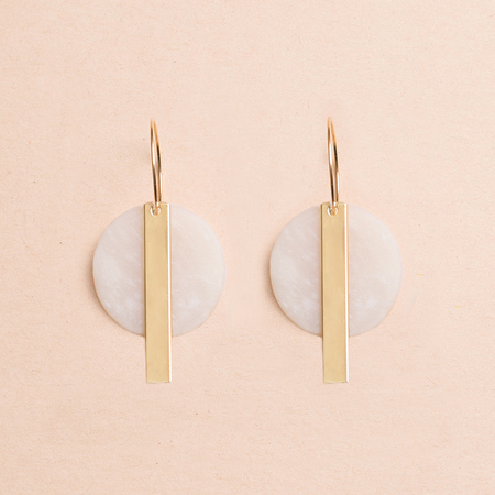 HIGHLOW JEWELRY Redux Earrings - Gold/Clay
