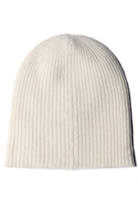 Unisex White + Warren Plush Rib Beanie - Pearl White