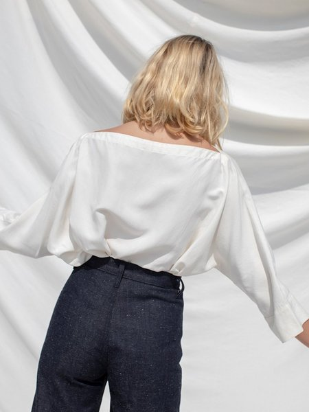 Ozma Silk Noil Olivia Top - Natural
