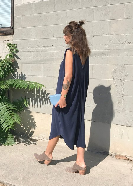 7115 by Szeki Signature Reversible Maxi Dress - Navy