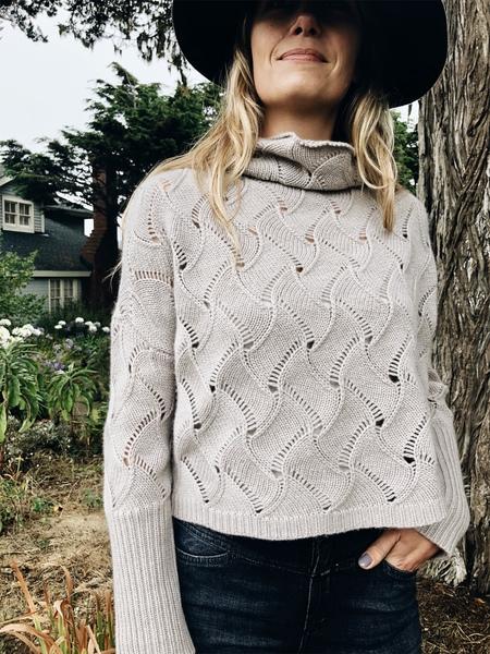 Inhabit Feather Stitch Cashmere Sweater - Dust
