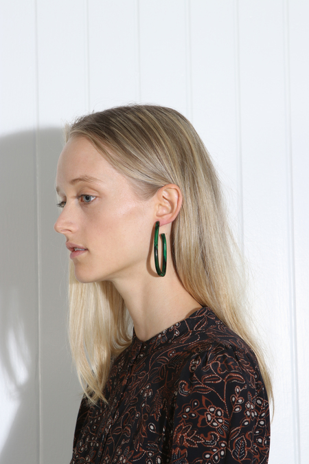 Rachel Comey Maya Earrings - Malachite