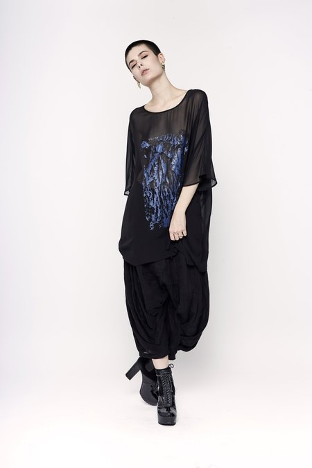 Jason Lingard Stone Print Silk Top