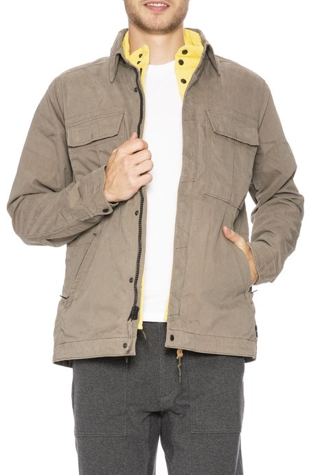 Relwen Dual Combat Jacket with Chest Pockets - Khaki/Yellow