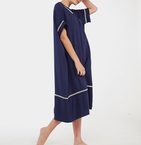 Laing Home Marina Viscose Gown - French Navy