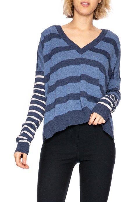 Derek Lam 10 Crosby Multi Stripe Sweater - Blue