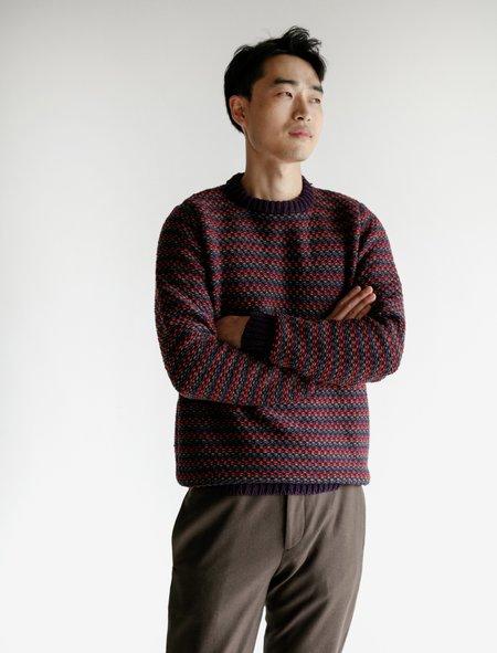 Frank Leder Wool Crew Multi Knit